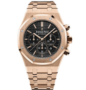 Royal Oak - Rose Gold/Black Chronograph - Top Watches