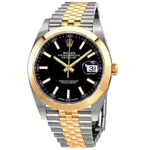 AUTOMATIC GOLD DATEJUST II 126303 BLACK DIAL