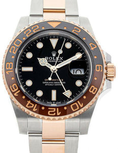 gmt master  GMT-MASTER II ROOT BEER STAINLESS STEEL