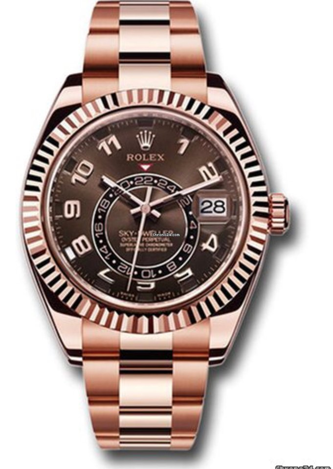 Rolex Sky-Dweller  Gold Bracelet Rare Chocolate Dial - Top Watches