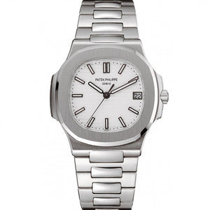 MEN PATEK PHILIPPE NAUTILUS 1453946 WHITE DIAL