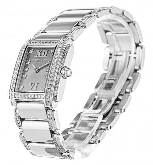 LADIES PATEK PHILIPPE TWENTY-4 4908/310G GREY DIAMOND - Top Watches