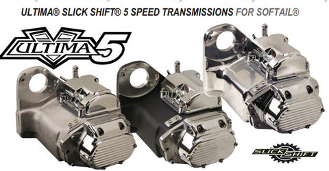 Ultima Slick Shift 5 Speed Transmissions for Softail