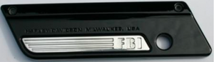 """FBI"" Razor Saddlebag Latch Inserts-Chrome"