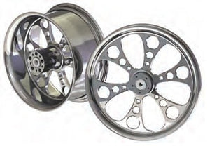 "94-963 ULTIMA® CNC MACHINED, POLISHED ALUMINUM BELT DRIVE PULLEYS KOOL KAT® 2000 & LATER, 1-1/8"" 70 TOOTH"