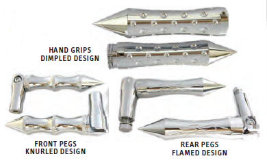 22-258 CHROME PLATED BILLET Front folding pegs