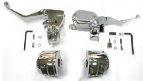 "47-127 HANDLEBAR CONTROL KITS FOR SPORTSTER® Kit includes 9/16"" bore master cylinder w/switch housings"