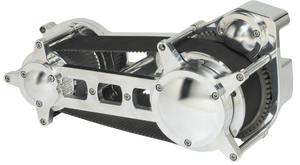 "58-700 ULTIMA® EVO & TWIN CAM® SOFTAIL® 3.35"" PRIMARY - Cast Drag Race Style Belt Drive Assembly-- Polished, 1990-2006."