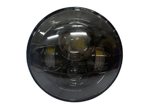 "Black 7"" LED Headlight for Harley Touring models"