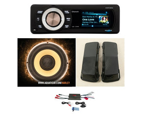 4 SPEAKER STEREO PACKAGE:    HEAD UNIT + FAIRING SPEAKERS + SADDLEBAG LIDS AND SPEAKERS