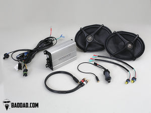 ROAD KING & SOFTAIL SPEAKER LID PACKAGE WITH FLUSH LIGHTS