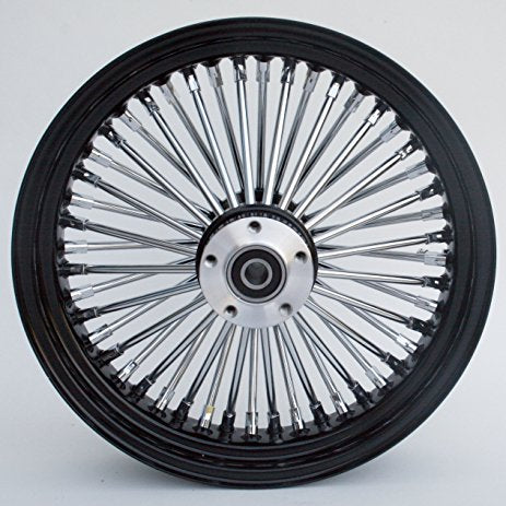 ULTIMA KING SPOKE WHEELS - BLACK AND CHROME (FRONT)