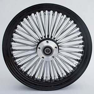 ULTIMA KING SPOKE WHEELS - BLACK AND CHROME (REAR)