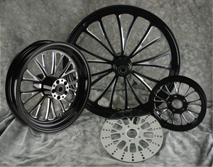 Manhattan Black Contrast Cut Wheels (FRONT)