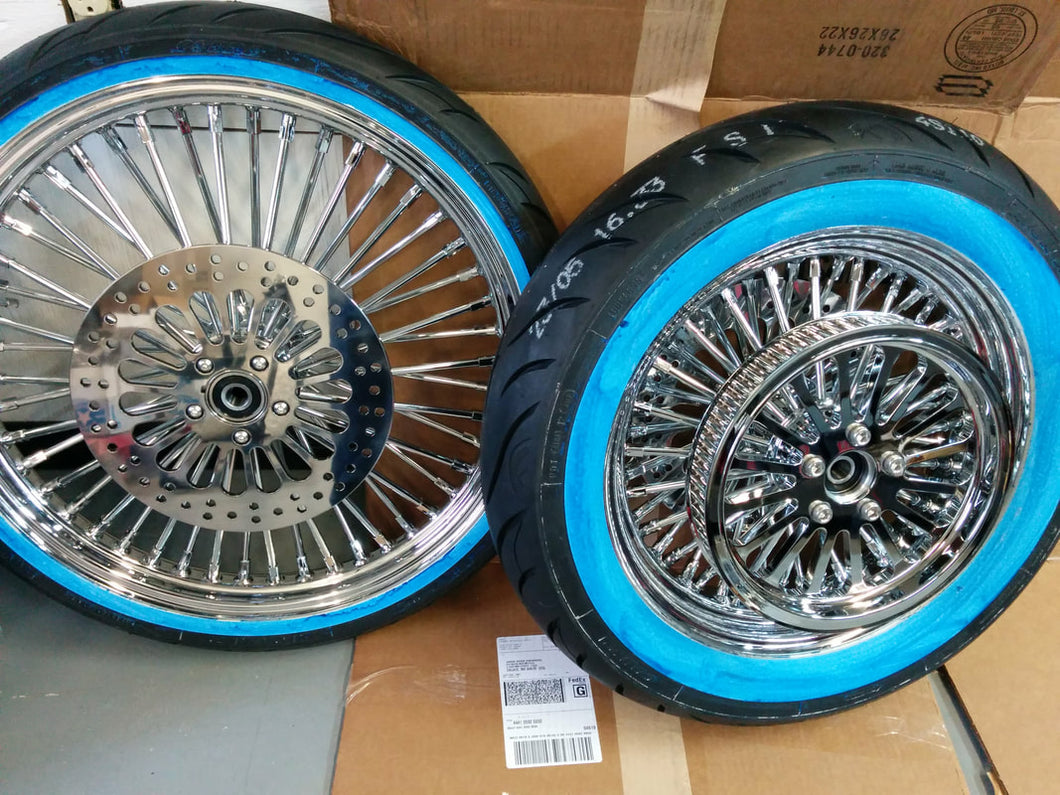 King Spoke Wheel Package for Harley Softails