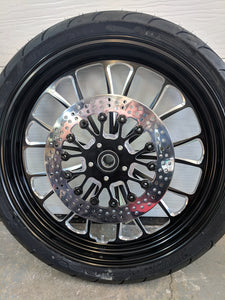 MACHINED ALUMINUM BLACK CUT WHEEL PACKAGE WITH FLOATING ROTORS  - $1,549 WITH FREE SHIPPING