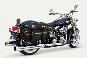 True Duals with 4″ x 30″ Mufflers For Softail