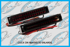 Harley Jaded Oval Integrated LED Tail Lights
