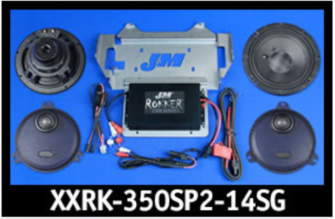 J&M ROKKER® XXR EXTREME 350w 2-Speaker/Amplifier Installation Kit for 2014-2020 Harley® StreetGlide/Ultra
