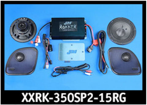 J&M ROKKER® XXR EXTREME 350w 2-Speaker/Amplifier Installation Kit for 2015-2020 Harley® RoadGlide/Ultra