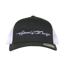 Load image into Gallery viewer, SBD BLACK/WHITE MESH HAT