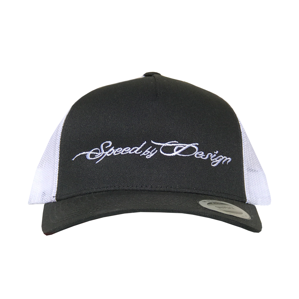 SBD BLACK/WHITE MESH HAT