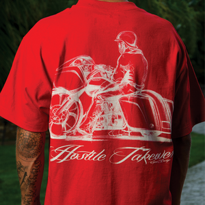 HOSTILE TAKEOVER RED T-SHIRT
