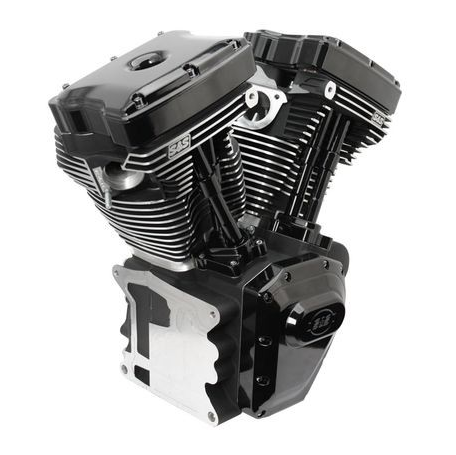 T124 BLACK EDITION LONG BLOCK ENGINE FOR SELECT 1999-'06 HD® TWIN CAM 88®, 95®, 103® MODELS – 585 GE CAMS –