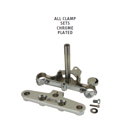 29-67 FORK CLAMP SET Triple Tree Fat Boy® and Heritage Softail®