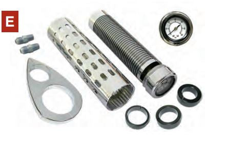 73-59 CNC BILLET OIL COOLER KIT w/oil pressure guage