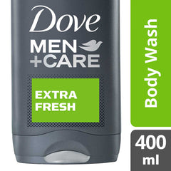 Dove Men +Care Extra Fresh Micro Moisture Body + Facewash 400Ml  - Urbery