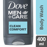 Dove Men +Care Clean Comfort Micro Moisture Body + Facewash 400Ml