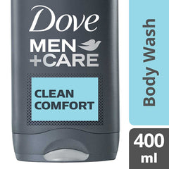 Dove Men +Care Clean Comfort Micro Moisture Body + Facewash 400Ml  - Urbery