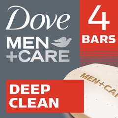 Dove Men +Care Deep Clean Purifying Grains Body & Face Bar 4X90G  - Urbery