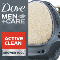 Dove Men +Care Active Clean Dual Sided Shower Tool 1 Count  - Urbery