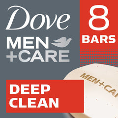 Dove Men +Care Deep Clean Purifying Grains Body & Face Bar 8X90G  - Urbery