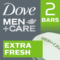 Dove Men +Care Extra Fresh Invigorating Formula Body & Face Bar 2X113G  - Urbery