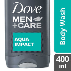 Dove Men +Care Aqua Impact Micro Moisture Body + Facewash 400Ml  - Urbery