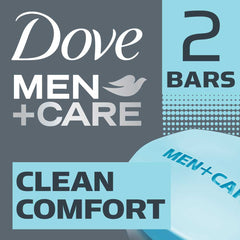 Dove Men +Care Clean Comfort Body & Face Bar 2X113G  - Urbery