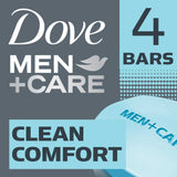 Dove Men +Care Clean Comfort Body & Face Bar 4X90G