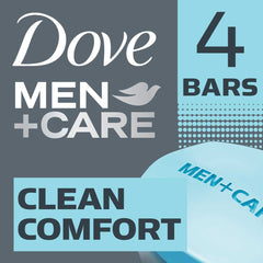 Dove Men +Care Clean Comfort Body & Face Bar 4X90G  - Urbery