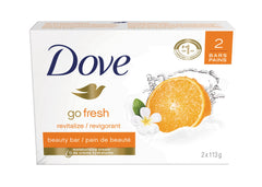 Dove Go Fresh With Mandarin And Tiare Flower Scent Beauty Bar 2X113G  - Urbery