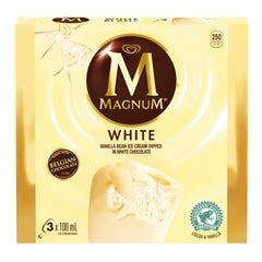Magnum White Ice Cream Bars 3X100Ml  - Urbery