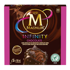 Magnum Infinity Chocolate Ice Cream Bars 3X100Ml  - Urbery
