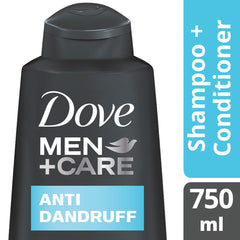Dove Men +Care Anti Dandruff Shampoo 750Ml  - Urbery