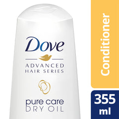 Dove Advanced Hair Series Pure Care Dry Oil Conditioner 355Ml  - Urbery