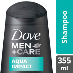 Dove Men +Care Aqua Impact Shampoo 355Ml  - Urbery
