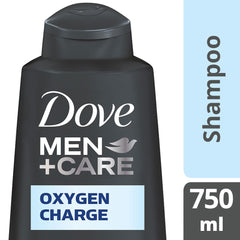 Dove Men +Care Oxygen Charge Shampoo 750Ml  - Urbery