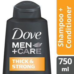 Dove Men +Care Thick & Strong Shampoo & Conditioner 750Ml  - Urbery