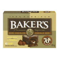 Kraft Baker's 70% Dark Chocolate Squares (170g)